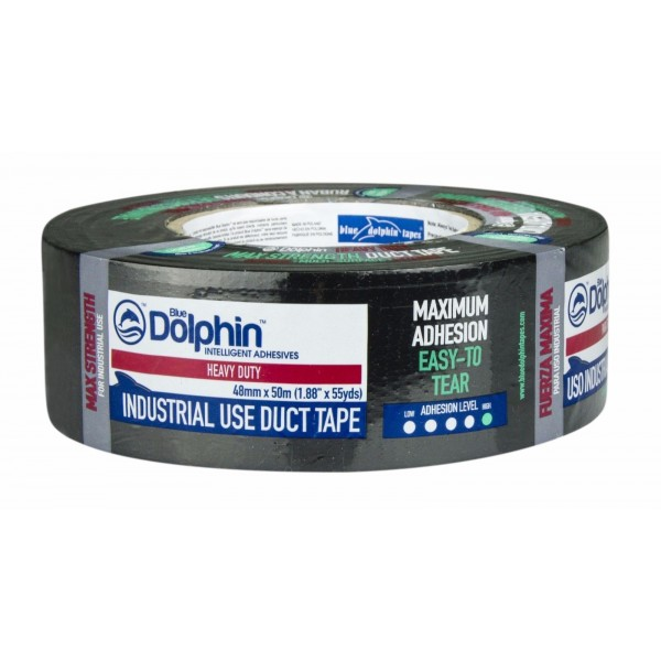 Blue Dolphin Duct Tape Strong Black 48mm x 50 m
