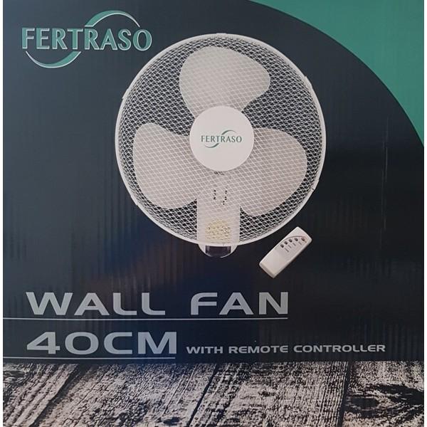 Wand / Muurventilator 40cm met afstandsbediening Fertraso