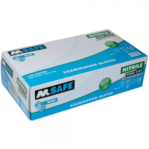 M-Safe 4525 Nitril handschoenen XL poedervrij