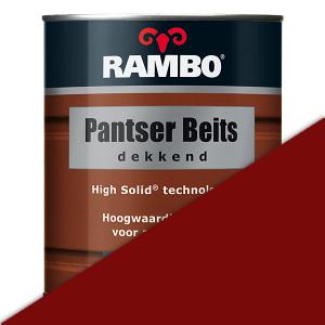 Rambo Pantser Beits dekkend 0,75 liter - Steenrood (1105)