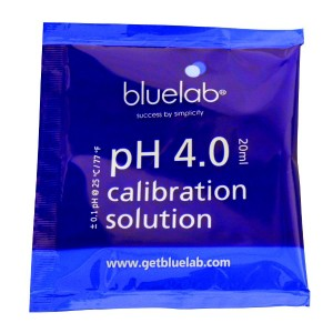 Bluelab pH 4 ijkvloeistof zakje 20ml