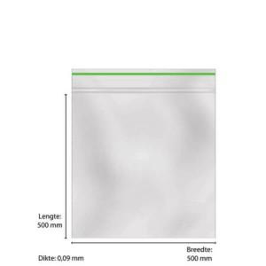 Grip zak - 500 X 500 X 0,09mm (per stuk)