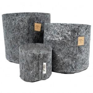 Root Pouch Pot Grey 30 liter