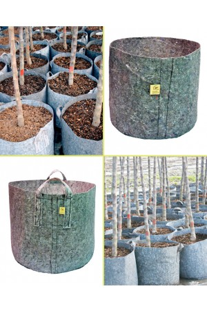 Root Pouch Pot Grey 8 liter